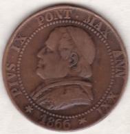 Pie XI / Pio IX. 1 Soldo 1866 An. XXI, Zecca Di Roma - Vatican