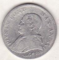 Pie XI / Pio IX. 1 Lira 1866 An. XXI, Zecca Di Roma, Petit Buste, Argent - Vatican