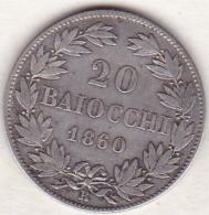 Pie XI / Pio IX. 20 Baiocchi 1860 An. XV, Zecca Di Roma, Argent - Vatican