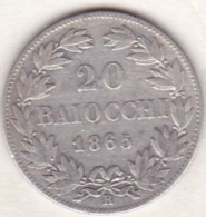 Pie XI / Pio IX. 20 Baiocchi 1865 An. XX, Zecca Di Roma, Argent - Vatican