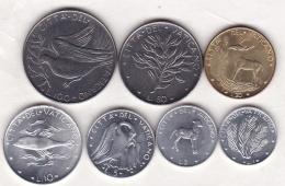 Paul VI / Paolo VI. 7 Pieces Différentes , 7 Monete Differenti . 1970 - Vaticano