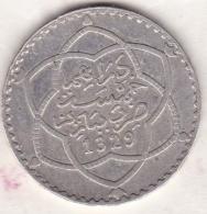 Maroc. 5 Dirhams (1/2 Rial) AH 1329 PARIS . AL-HAFIZ. ARGENT - Maroc