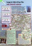 Veneto - Depliant SENTIERI DEL TOURING, LUNGO LA VALLE DI SAN VITO NELLE DOLOMITI CADORINE - Sent-tou - Dépliants Turistici