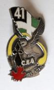 Insigne Rare 41° Régiment D'Infanterie CEA Sel A Sko Bretagne Hermine Hibou J. Y. Segalen 1994 - Armée De Terre