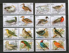 Aitutaki  386-401 ** Vögel Birds - Ohne Zuordnung