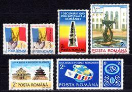 1990 ROMANIA COMPLETE SETS ALL MNH ** - 1948-.... Republics