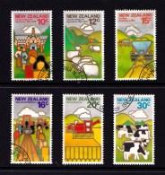 New Zealand 1978 Farming Set Of 6 Used - New Zealand