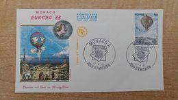 FDC 1er Jour - Monaco - Europa 1983 - Ballon - Montgolfière - Airships