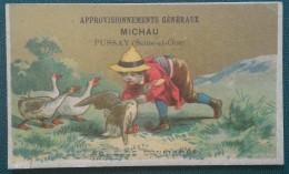 PUSSAY (SEINE ET OISE ) - MICHAU - APPROVISIONNEMENT GENERAUX - 10,5 X 6,5 Cm - Vieux Papiers