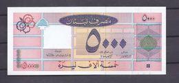 5000 LP Banknote UNC Lebanon 1994 , Paper Money, Billets Liban - Lebanon