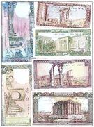 6 Banknote UNC Lebanon Currency , Paper Money, Billets Liban - Lebanon