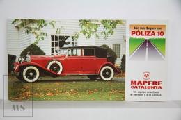 Spanish Mapfre Insurance Advertising Postcard - Red Rolls Royce 1920's Classic Car - Voitures De Tourisme