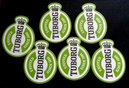 TUBORG , Beer Mats  X 6 Pcs. - Beer Mats