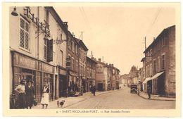 Cpa Saint Nicolas De Port - Rue Anatole France ( Commerces ) - Saint Nicolas De Port