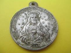 Médaille   Religieuse Ancienne  /Coeur Sacré De Jésus / Notre Dame Du Mont Carmel/Fin XIXéme Siécle    CAN527 - Religión & Esoterismo