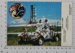APOLLO 17 CREW (HARRISON H.SCHIMTT RONALD EVANS EUGENE CERNAN) - Vintage PHOTO Autograph REPRINT POSTCARD (203-A) - Astronomy