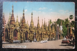 Myamar Shrines Shwe Dagon Pagoda Rangoon  Cpa Burma - Myanmar (Burma)