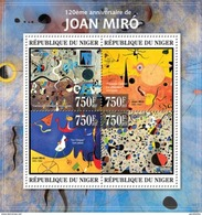 NIGER 2013 SHEET JOAN MIRO ART PAINTINGS ARTE PINTURAS Nig13325a - Niger (1960-...)