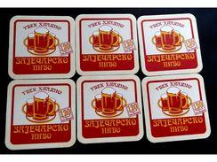 ZAJEČARSKO PIVO Bier Beer, Zaječar Serbia, Beer Mats  X ( 6 Pcs. ) - Portavasos