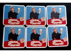 ZAJEČARSKO PIVO Bier Beer, Zaječar Serbia, Beer Mats  X ( 6 Pcs. ) - Sous-bocks