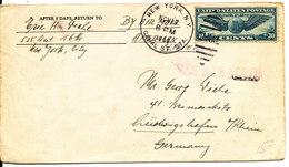 USA Cover Sent To Germany New York 27-11-1939 - Etats-Unis
