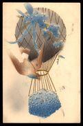 Embossed Hot Air Ballon Birthday Greetings Ref 2681 - Cumpleaños