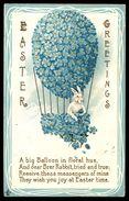 Embossed Hot Air Ballon Easter Greetings Ref 2681 - Pascua