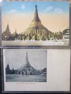 Myanmar  Burma Lot 2 Cpa Shwe Dagon Pagoda  Rangoon - Myanmar (Burma)