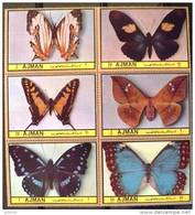 AJMAN PAPILLONS (serie 31/36). 6 Valeurs Neuves Sans Charniere. MNH - Mariposas