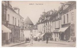 Cpa Semur - Rue Febvret ( Commerces, Geay ) - Semur