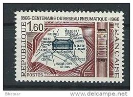 "FR YT 1498 "" Poste Pneumatique "" 1966 Neuf** - France"