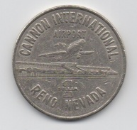 Jeton Géant & Nostalgique : Cannon Airport : Reno Nevada : Slot Machine 1981 - Casino