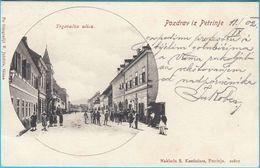 PETRINJA - Trgovacka Ulica ( Croatia ) * Travelled 1902. To Osijek * Naklada : S. Kostincera , Petrinja - Croatia