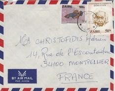 ZAIRE Lettre Avion 18/5/1981 Pour Montpellier France - Poisson Einstein ( Angle Froissé ) - 1980-89: Oblitérés