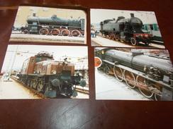 B669 4 Foto Vecchie Locomotive Cm15x10 - Fotografia