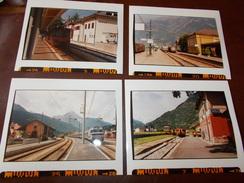 B669 4 Foto Stazioni Merano Male' San Candido Edolo Cm12x10 - Fotografia