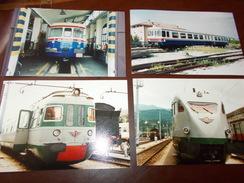 B669  4 Foto Vecchi Treni Cm15x10 - Fotografia