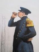Gravure Fin 19e Siècle Représentant Un PREMIER MAITRE EN COSTUME D'ABORDAGE De La Marine Française, Peut être D'époque N - Boten