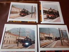 B669  4 Foto Stazione Bolzano Treno Cm12,5x10 - Fotografia