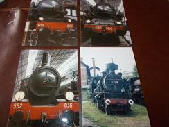B669  4 Foto Vecchie Locomotive Cm15x10 - Altri