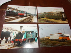 B669  4 Foto Vecchi Treni E Locomotive Cm15x10 - Fotografia
