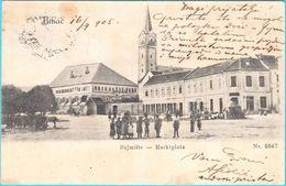 BIHAC - Sajmiste ... Marktplatz  ( Bosnia And Herzegovina ) * Travelled 1905. To Fojnica * K.u.K. Military Post Bihac - Bosnia And Herzegovina
