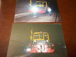 B669  2 Foto Lavoratori In Stazione Cm15x10 - Fotografia