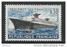 "FR YT 1325 "" 1er Voyage Du Paquebot France "" 1962 Neuf** - Ungebraucht"