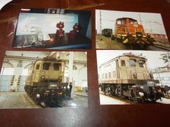 B669  4 Foto Locomotive E Ufficio Movimento Stazione Cm15x10 - Fotografia