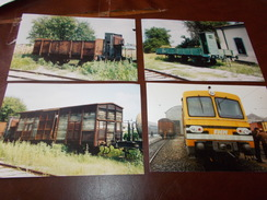 B669  4 Foto Vecchi Treni Cm15x10 - Altri