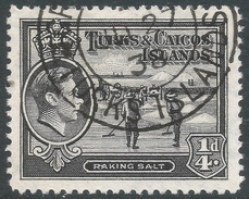 Turks & Caicos Islands. 1938-45 KGVI. ¼d Used. SG 194 - Turks And Caicos