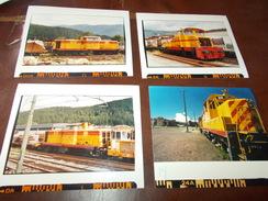 B669  4 Foto Vecchia Locomotiva Cm12,5x10 - Fotografia