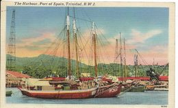 Cpa Trinidad, Port Of Spain, The Harbour, Voiliers, Bateaux Dans Le Port - Trinidad