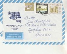 SOUDAN SUDAN Devant De Lettre Avion  Entête Hotel Acropole Khartoum Pour Montpellier France  - Lettre N° 1 - Soudan (1954-...)